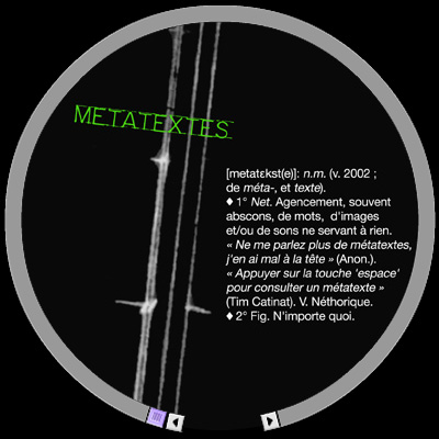 Métatextes - Poésie interactive - © Tim Catinat - all rights reserved